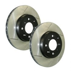 Right StopTech 127.62146R Sport Drilled and Slotted Rotor