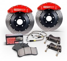 Right StopTech 127.62147R Sport Drilled and Slotted Rotor
